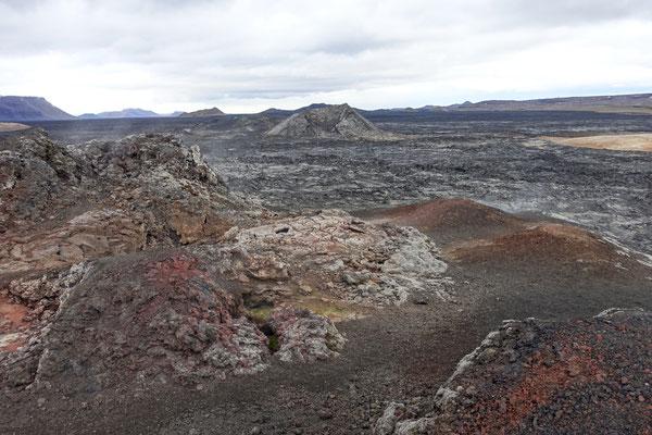 Hier ist die Lava noch richtig warm