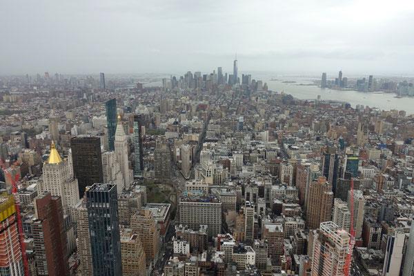 Wir stehen auf dem Empire State Building...