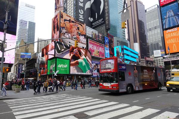 Viel Betrieb beim Times Square