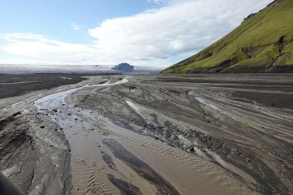 Die Gletscherabläufe sind gut zu befahren