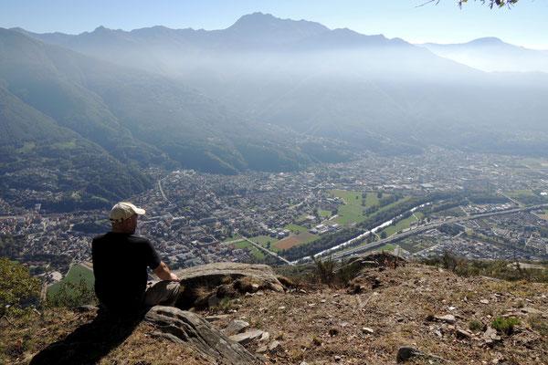 Ausflug ins Tessin...Blick hinunter nach Bellinzona