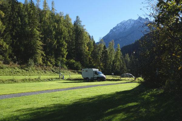 In Scuol im Unterengadin ist der Camping fast leer