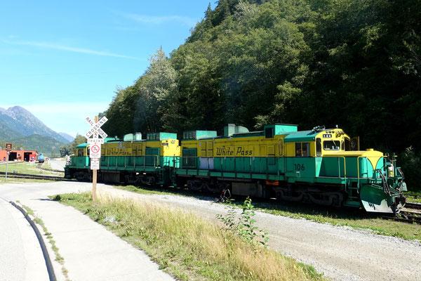 Die Züge verkehren fleissig...