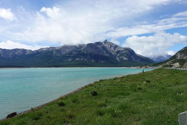 Der Abraham Lake in schönem Türkis