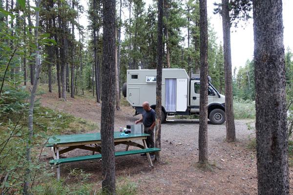 """Wir """"pfuusen"""" auf dem Forest Campground"""