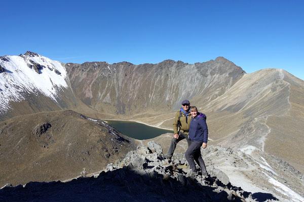 Schöner Blick in den Krater des Toluca