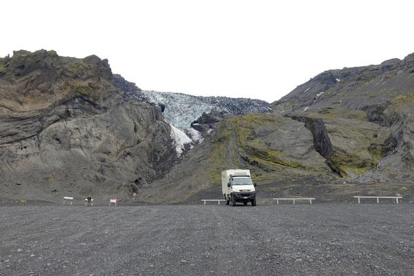 Stop hinter dem Eyjafjallajökull...auf dem Weg nach Porsmörk