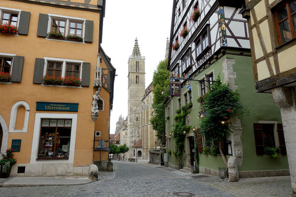 Nachtplatz und Spaziergang in Rothenburg ob der Tauber