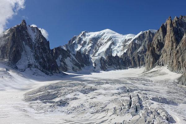 Gletscher und der Mont Blanc