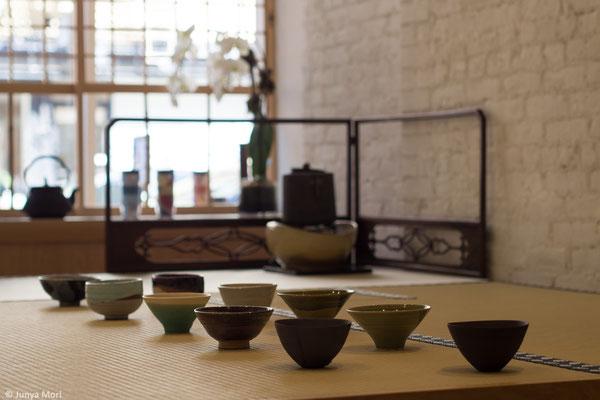 Tea Bowls on Tatami Mats