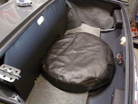 Der Kofferraum ist fertig