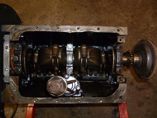 Der Motor teilmontiert