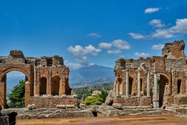 Taormina Blick auf Etna