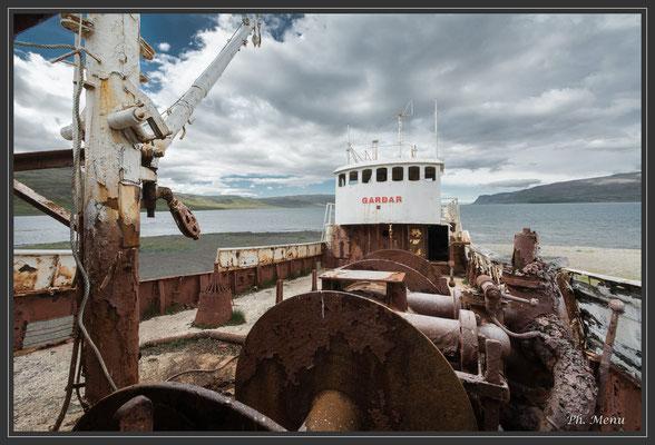 Épave du Gardar BA 64 de 1912, échoué en 1981
