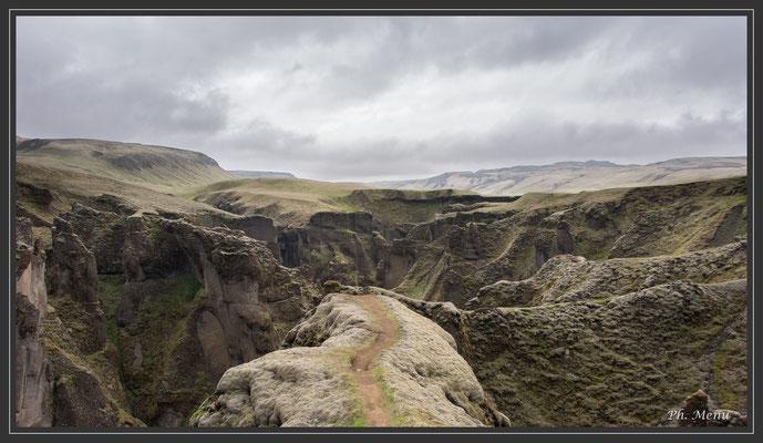 Fjaorargljufur, ice age canyon