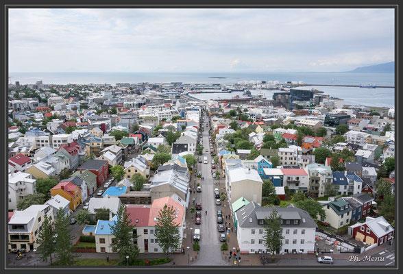 Vue de Reykjavik depuis le clocher