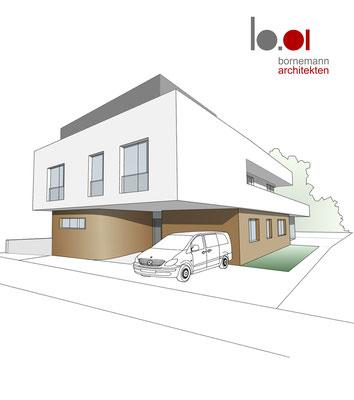 20.08.2021 Wohnhauskonzept für ein Enfamilienhaus mit Tiefgarage