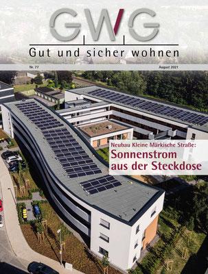 01.08.2021 Veröffentlichung Wohnbabauung Kleine Märkische Straße im Journal der GWG Schwerte (Foto: GWG)