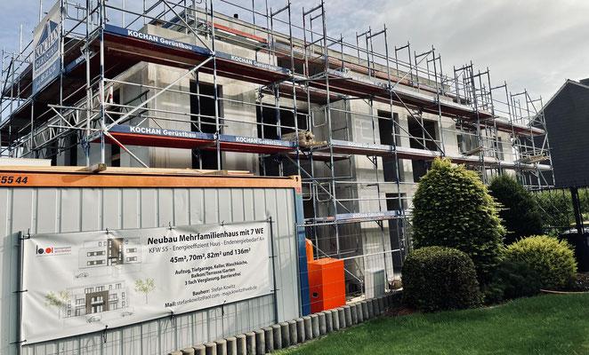 07.09.2021 Mehrfamilienhaus Holzwickede - Fertigstellung des Rohbaus