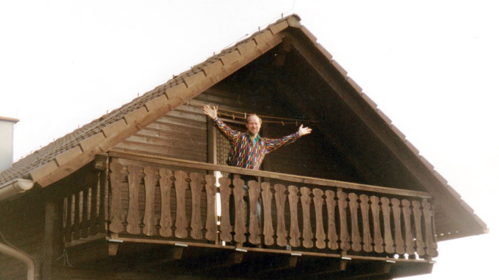 Me on the balcony of the guestroom.