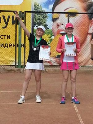 Настя Чистякова и Лера Чурюмова - финалисты Первенства Волгоградской области по 12-летним