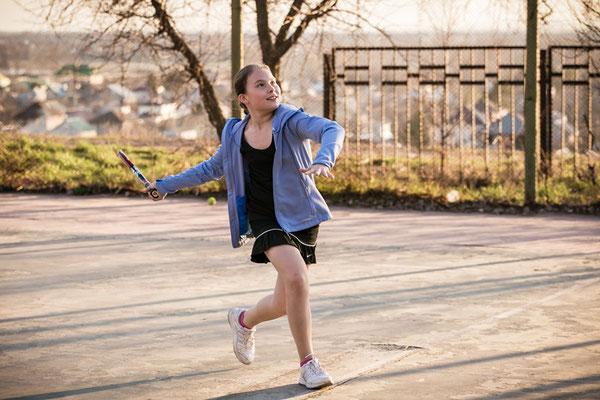 Настя Чистякова. Тренировка (апрель, 2015 г.)