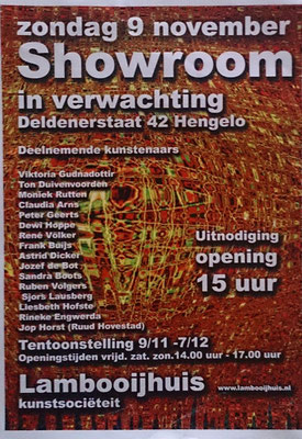 Flyer- Showroom in verwachting, Hengelo 2014