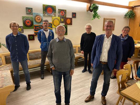 Die Geehrten von links: Uwe Partenfelder, Wolfgang Neidhardt, Klaus Cullmann, Siegfried Gläßel, Dr. Klaus von Stetten, Ulrike Kropf. Nicht auf dem Bild: Brigitte Heinrich, Hans Rummel, Siegfried Bauer.