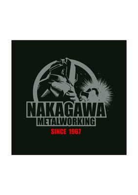 中川金属株式会社様のスタッフTシャツ用にロゴマークを制作させて頂きました。