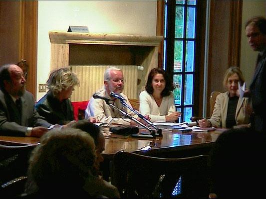 Austrian Cultural Forum Rome, Luciano Perez, Simonetta Lux, Arnulf Rohsmann, translater, Patrizia Mania, Director Schmiedinger.