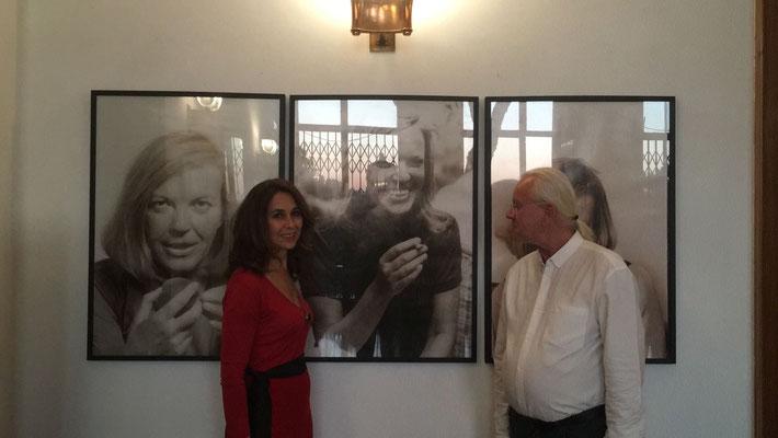 Regina Huebner and Arnulf Rohsmann at Austrian Cultura Forum Rome