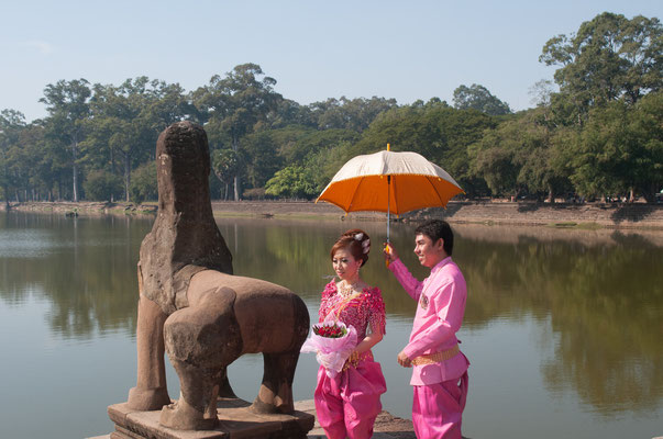 Wedding at Angkor Wat, Cambodia