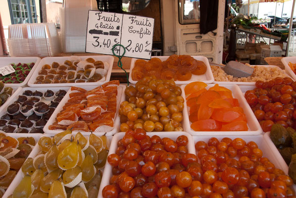 Nice: Crystallized Fruit (Glacé Fruit) or Candied Fruit