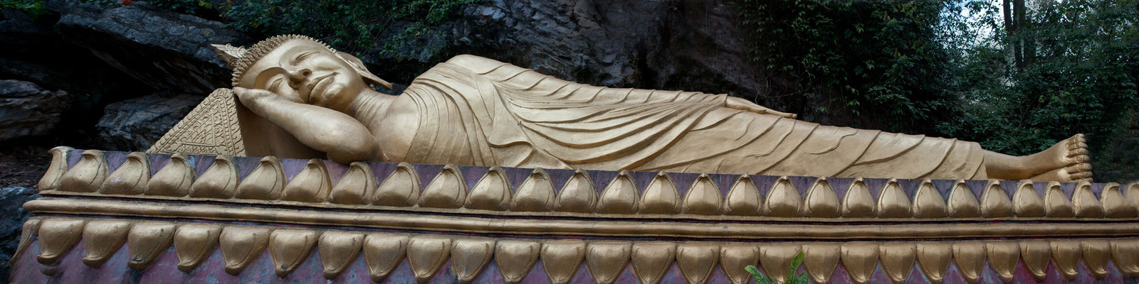 Reclining Buddha on  Phiu Si Hill, Luang Prabang, Laos