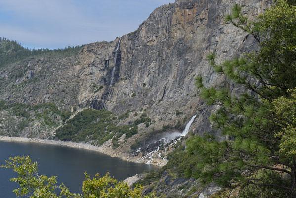 Tueeulala Falls and Wapama Falls Hetch Hetchy, Yosemite