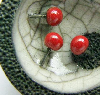 déteil de perle en céramique raku