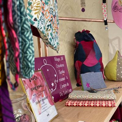 création textile, sacs et pochettes de Maya M