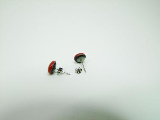 puces d'oreilles tige argent