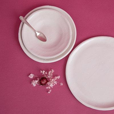 assiettes porelaine de florence marquet