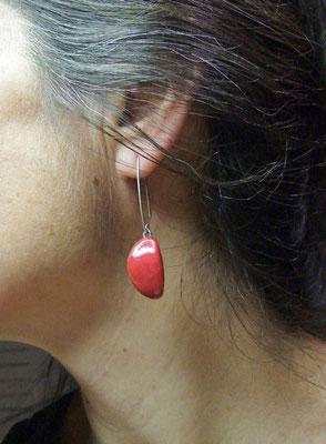 boucles d'oreilles de céramiste