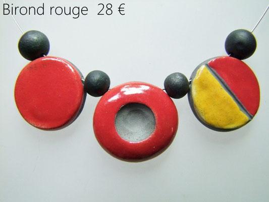 fiche descriptive du collier bicolore artisanal