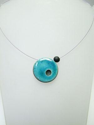 bijou ceramique collier bleu