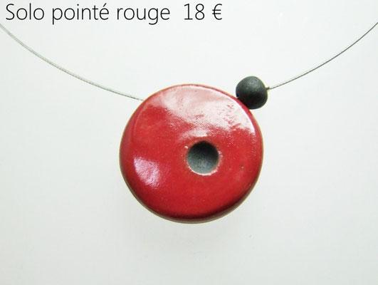 fiche descriptive du pendentif rouge en ceramique raku