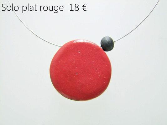 voir la fiche de description du collier rouge en ceramique raku