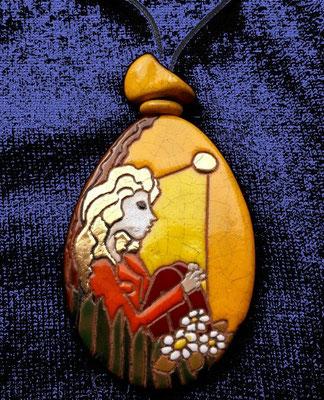 pedentif ceramique cloisonnée