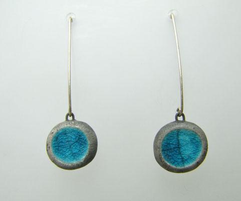 boucles d'oreilles de createur en poterie