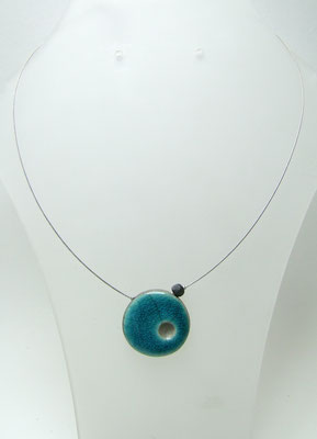 collier artisanal en raku