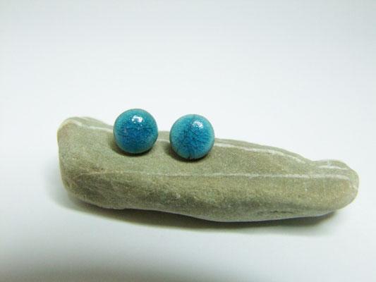 voir en détail ces puces d'oreilles bleues