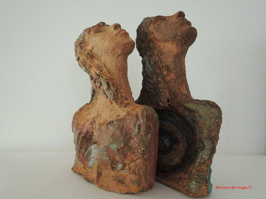 sculpture buste ceramique