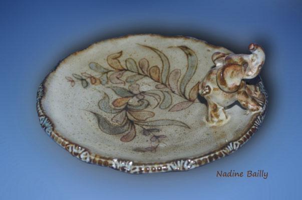 plat ceramique engobe